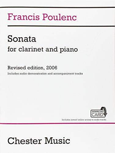 Poulenc: Clarinet Sonata, FP 184 Bk/Online Audio
