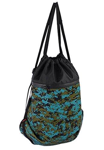 Basketball Rucksack Drawstring Tasche Schwimmen Tasche Fitness Tasche, grün