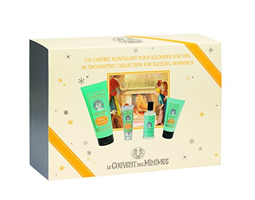 Awakening Morning Quartet Gift Set, with a fragrance, shower gel, body lotion, and hand cream that feature a crisp, citrus scent, made in France, customer favorite