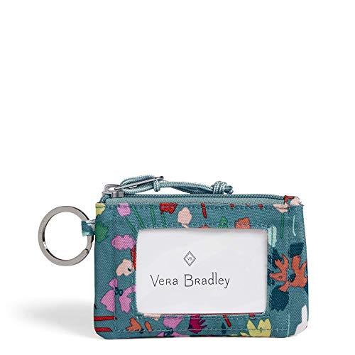 Vera Bradley Lighten Up Zip ID Case, Polyester, Superbloom Sketch, ()