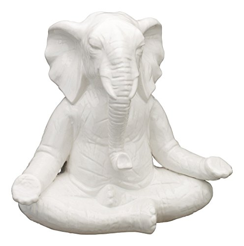 Regal Art & Gift 12.5 Inches x7.25 Inches x 11.5 Inches Zen Statuary Elephant Porcelain