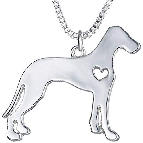 (Soul Statement Dog Gifts for Women: Necklace Pendents Silver Dogs Charm (Great Dane))