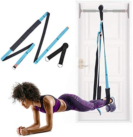Xcellent Global Yoga Stretching Strap Multi-Purpose Door Flexibility Assistant Stretch Band, Improve Back & Waist Flexibility, Suitable for Indoor Fitness, Dance, Yoga, Gymnastics SP168