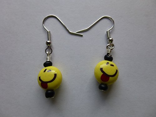 Yellow Emoji Earrings – Licking Tongue