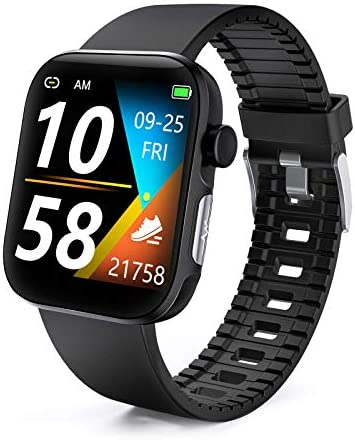 DFG Smart Watch HRV Activity Tracker Blood Oxygen Meter Heart Rate Blood Pressure Monitor Waterproof Fitness Tracker Watch with Sleep Monitor Smart Band Calories Pedometer for Women Men