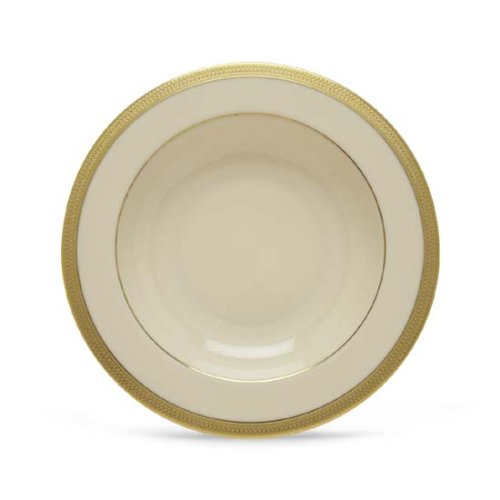 Lenox Lowell Gold Banded Ivory China Pasta Bowl/Rim Soup