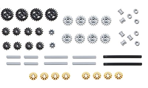 Axle Parts Set - LEGO 50pc Technic gear & axle SET