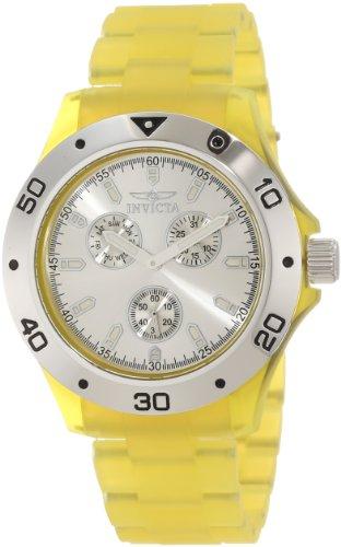 Invicta Men's 1667 Anatomic Silver Dial Yellow Frosted Plastic Watch - Frosted Plastic Watch