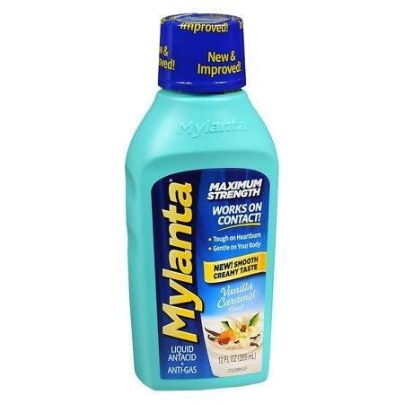 Mylanta Maximum Strength, Vanilla Caramel, 12oz. Per Bottle (2 Pack)