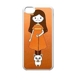 Chihuahua Funda iPhone 5c Funda Caja del teléfono celular blanco L8C5MY