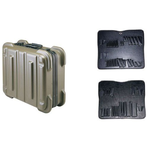 Jensen Tools 356B170 9'' Olive Rugged Duty Poly Case w/Pallets only