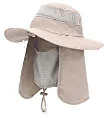 iColor 360° UV Protection Sun Protection Fishing Cap: UPF 50+ with neck and face flat cover protect your skin from the sun Foldable, Removable design: : folds up easily and very compact, even a pocket; the neck and face flat can be removable,...