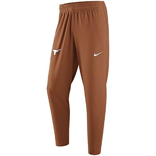 Nike Men's Texas Longhorns Elite Basketball Pant (Large) Burnt Orange (Texas Workout Pants)