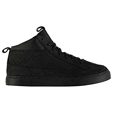 Firetrap Mens Euphoria Trainers Lace Up Stitched Detailing Casual Chunky Shoes BlackBlack UK 9