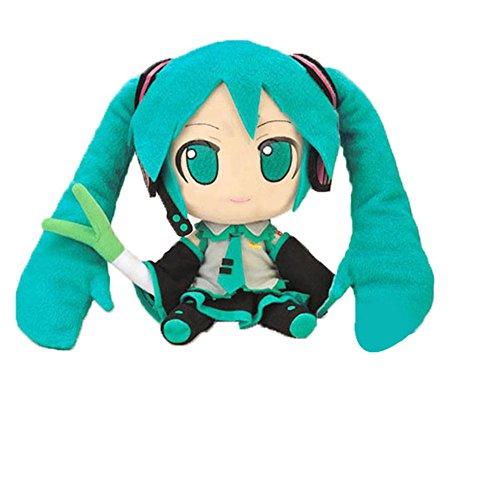 """zZZ Hatsune Miku Plush Puppets 11"""" Doll Toy"""