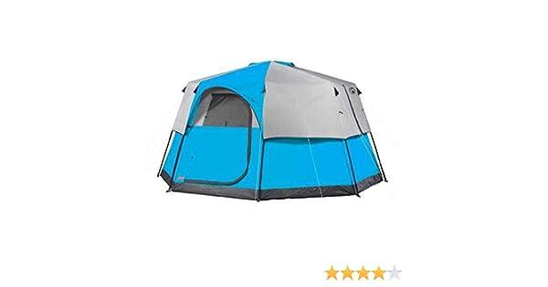 Coleman Octogone 98 Tente 8 Personne 13x13/' Weathertec Tech Camping Chasse-Bleu