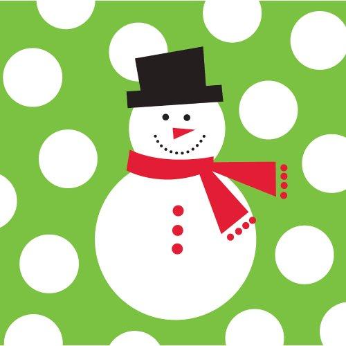 Creative Converting Snowman Beverage Napkins