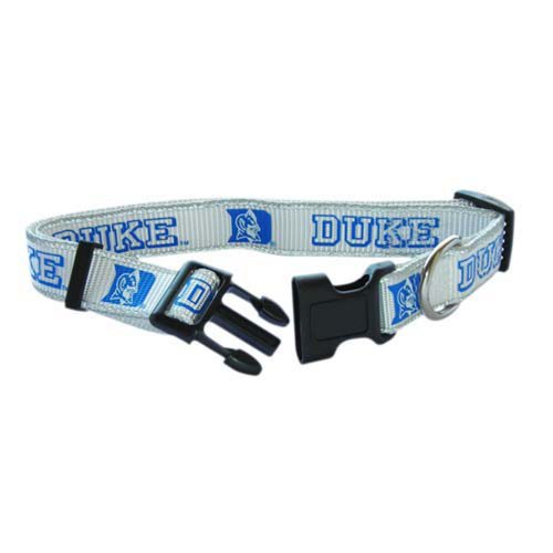 Pet Goods Small Collegiate  5/8-Inch by 10-Inch - 14-Inch  Dog Collar, Duke University