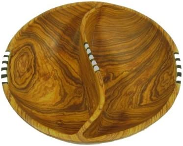 Olive Wood Fruit Salad Snack Bowl 8 inch 20 cm Fair Trade