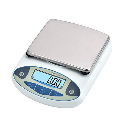 SKYTOU High Precision Lab Scale Digital Analytical Electronic Balance Laboratory Lab Precision Scale Jewelry Scales Kitchen Precision Weighing Electronic Scales 0.01g(5000g/0.01) (Laboratory Precision Scale)