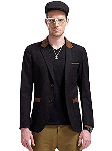 Zity Men's Slim Fit Casual Premium Blazer Jacket Small Black