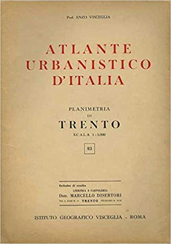 Amazon.it: Atlante urbanistico d\'Italia: 23: planimetria di Trento ...