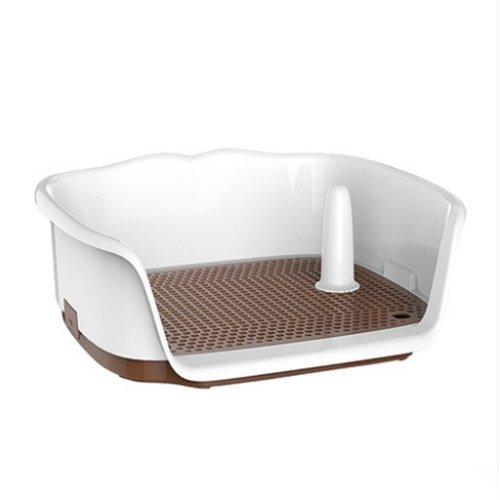 QNMM Chien De Compagnie D'intérieur De Toilette Portable Chiot Potty Urinoir Colonne Tapis De Formation Clôture Chien Plateau De Toilette Net Formation (Brun)