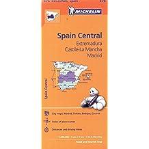 Michelin Spain: Central, Extremadura, Castilla-La Mancha, Madrid / Espagne: Centre, Extremadure, Castille-La Manche, Madrid Map 576