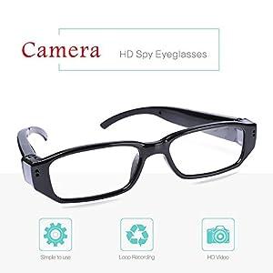 LFHMLF HD Spy Hidden Camera Glasses Nanny Cam Loop Video Recorder