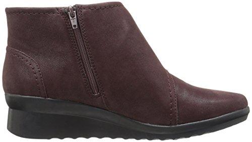 Clarks Womens Caddell Rush Boot Burgundy