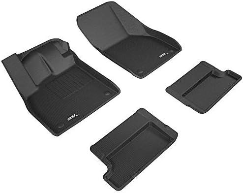 Black 3D MAXpider L1AD04601509 Gray Complete Set Custom Fit All-Weather Floor Mat for Select Audi TT Models Kagu Rubber