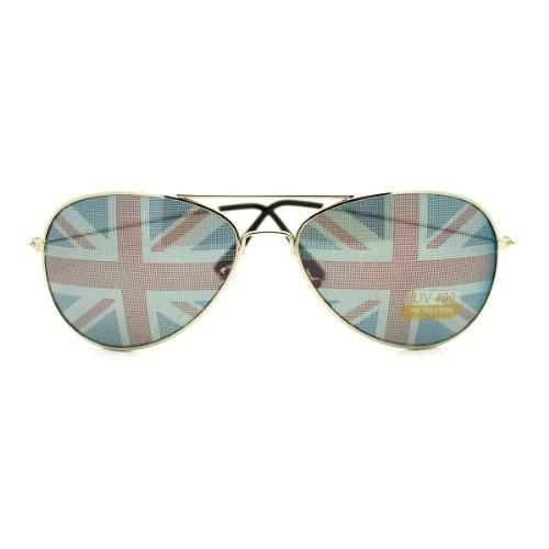 British England Flag In-pint Aviator Sunglasses (British Flag Sunglasses compare prices)