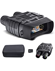 Night Vision Binoculars-Infrared Digital Night Vision Goggles with HD Video and Photo Modes-with 32GB Memory Card-Viewing from 984ft/300m-For Night Camping Hunting Wildlife Observation