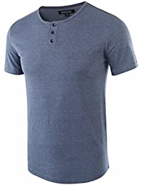 Men's Classic Comfort Soft Regular Fit Short Sleeve Henley T-Shirt Tee