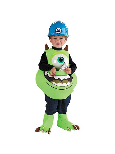 Monsters Inc Hard Hat (Mike Candy Catcher Toddler Costume - Toddler Large)