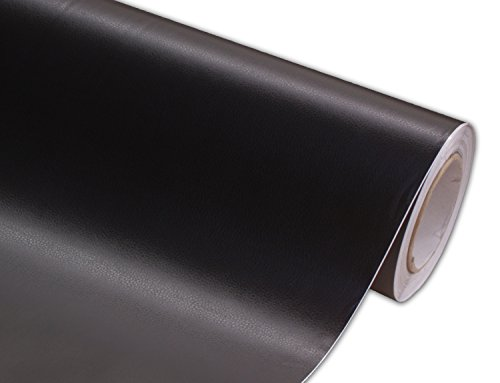 Hachi Auto Leather Black Vinyl Car Wrap 24 By 60 Inch