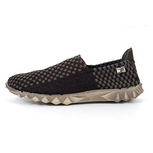 2 Check Elast E Dude Black Chocolate Woven Farty Last Shoes Dude C7wCnZRqX