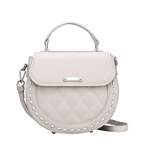 25X8 5X21CM Leather Fashion Casual Grey LxWxH Bag Shoulder Q0854 Handbag Women Dissa wtCvOqzx