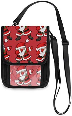 トラベルウォレット ミニ ネックポーチトラベルポーチ ポータブル クリスマス 老人 小さな財布 斜めのパッケージ 首ひも調節可能 ネックポーチ スキミング防止 男女兼用 トラベルポーチ カードケース