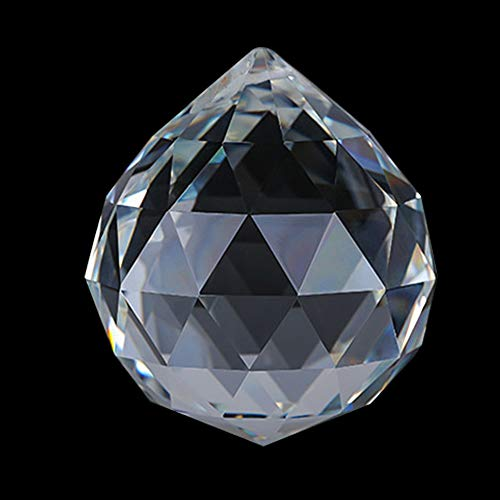 SunAngel Crystal 60mm Clear Faceted Ball Prism, Amazing Shine & Brilliance, Pendant Prism, Chandelier Accent, Party Decoration, Crystal Sphere Prisms Suncatcher Home Hotel Decor (60mm /2.36in)