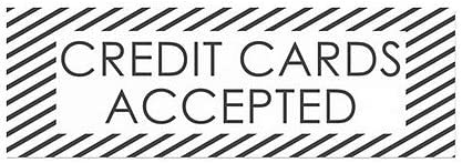 CGSignLab 36x12 Credit Cards Accepted 5-Pack Stripes White Window Cling
