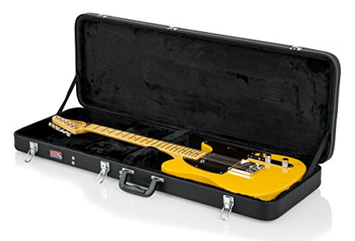 Gator Cases Hard-Shell Wood Case for Standard Electric Guitars; Fits Fender Stratocaster/Telecaster, More (GWE-ELECTRIC) by Gator (Image #1)