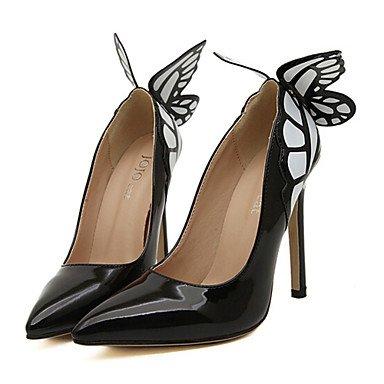 Zormey Women'S Shoes Stiletto Heel Heels Pumps/Heels Outdoor/Dress Black/Yellow US6 / EU36 / UK4 / CN36