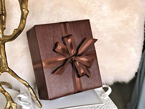 "Brown Faux Leather Gift Wrap Paper for Large Presents | 5 Sheets Each 31"" X 43"" 