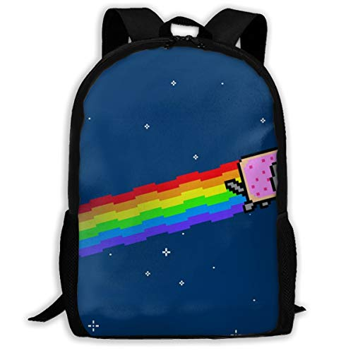 Jiqnajn6 Cute Nyan Cat.jpg Laptop Backpack,Travel Computer Bag for Women & Men,Anti Theft Resistant College School Bookbag,Business Backpack. -