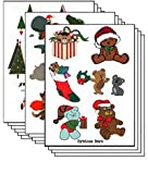 Christmas Pack of 100 sheets Temporary Tattoo