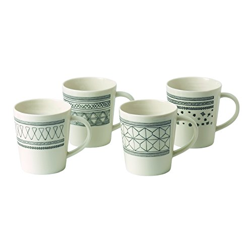 (ED Ellen DeGeneres Crafted by Royal Doulton Charcoal Grey Four Piece Mug Set )