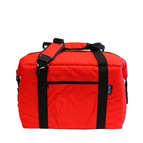 NorChill Voyager Series 24 Can Soft Side Cooler Bag- Red, Blue & Black Available ()