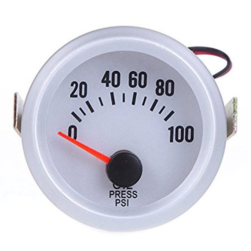 SODIAL(R) 0-100 PSI Car Oil Pressure Meter Blue Backkit Gauge with Sensor 091941