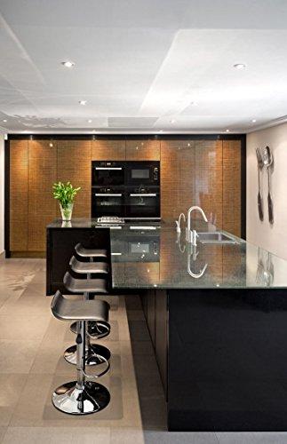 Panel de pared aspecto vidrio WallFace 20221 GRID Gold AR+ liso Revestimiento mural de aspecto textil extra brillante autoadhesivo resistente a la abrasión ...